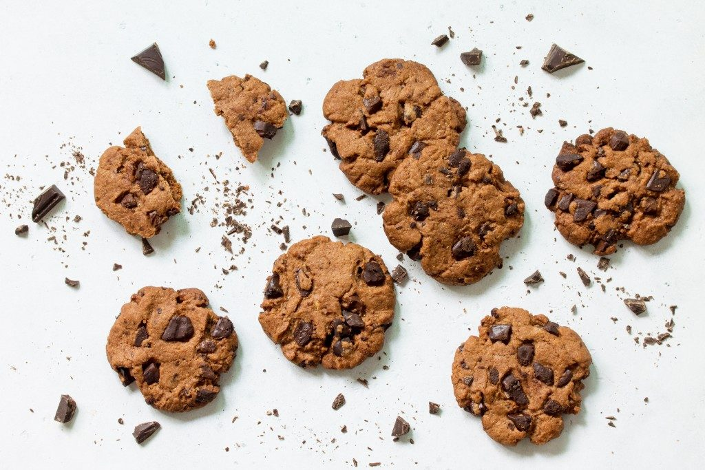 crunched cookies